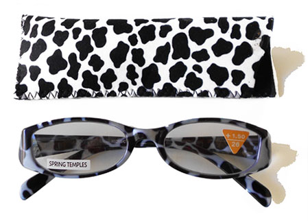 cow reading glasses