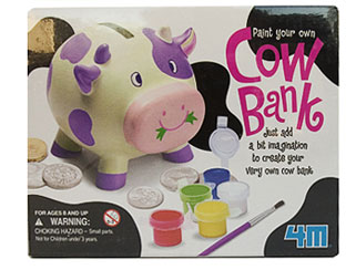 cow bank kids paint