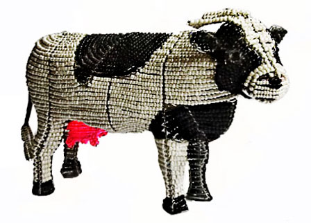 cow beaded statue