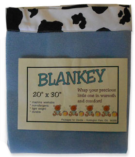 cow baby blanket