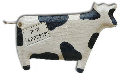 melamine cow serving tray