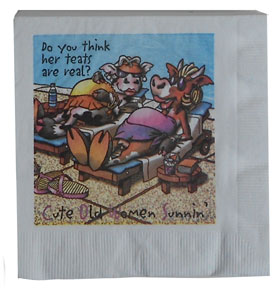 cute old women party humor napkins