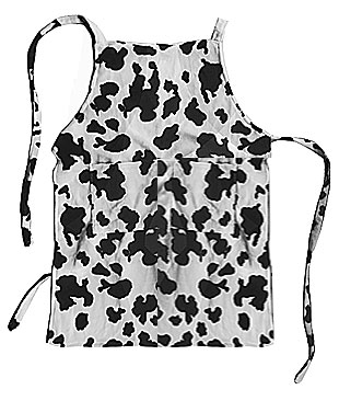 cow kids apron