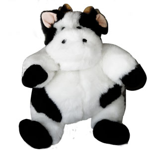 cow kids chubby plush
