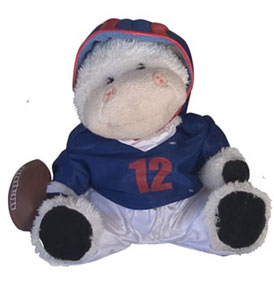 cow children football plush