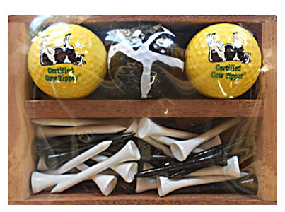 cow golf tee set