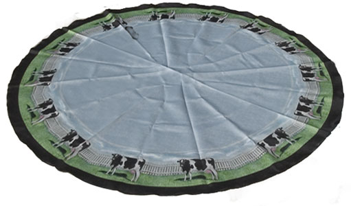 cow tablecloth round