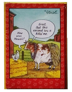 cow humor greeting card
