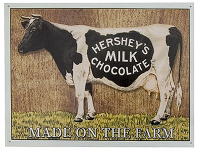 cow dairy sign