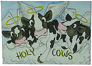 holy cow greeting cards