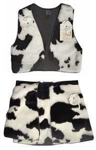 cow girls kid medium skirt