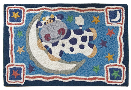 cow baby rug