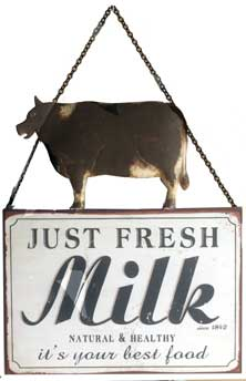 Cow Holstein Milk Signs