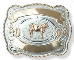 cow belt buckle