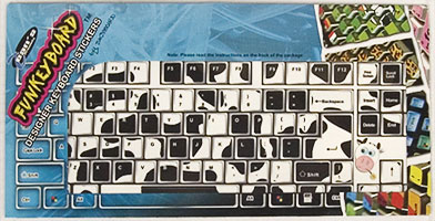 cow keyboard stickers