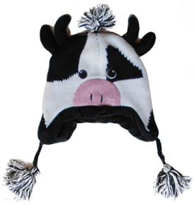 cow kids winter hat