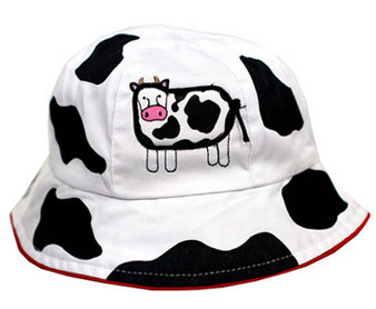 cow kids bucket hat