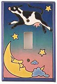 cow moon light switch cover