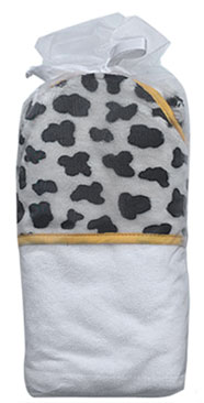 cow baby hooded towel