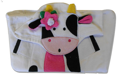 cow infants hooded towel