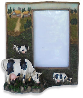 cow farm picture frame