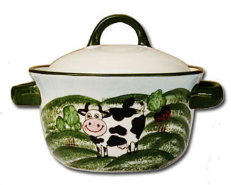 cow kitchen porcelain pasture design