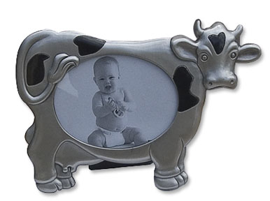 cow pewter picture frame