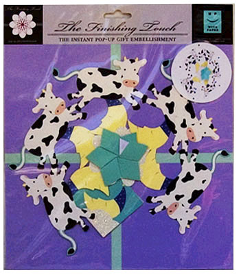 cow pop up gift wrap decoration