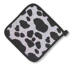 cow print pot holder
