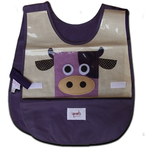 cow kids purple smock