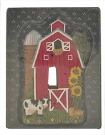 cow light switch plate