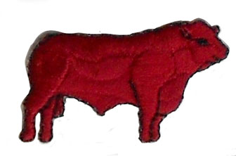 cow iron on patch