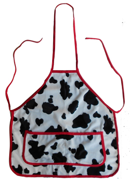 kids apron cow