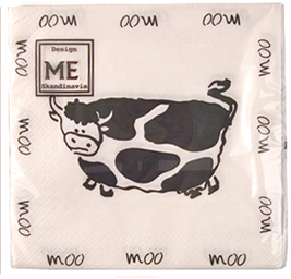 cow moo party napkins