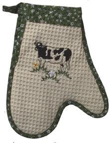cow kitchen oven mitt
