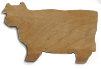 small cow wood serving tray
