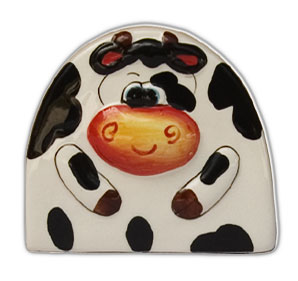cow napkin holder porcelain