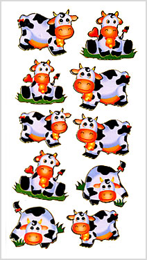 cow party stickers