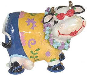 cow porcelain bank