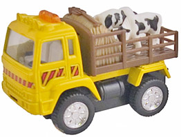 cow yellow die cast truck