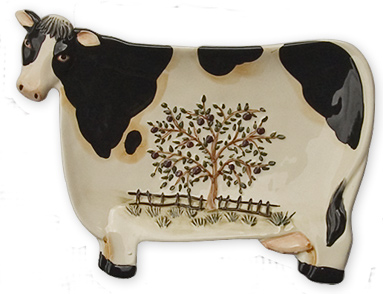 cow kitchen serving tray