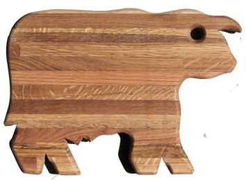 cow wood cutting board