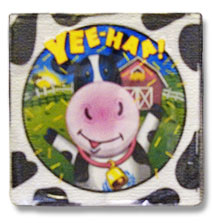 cow print small beverage party napkin